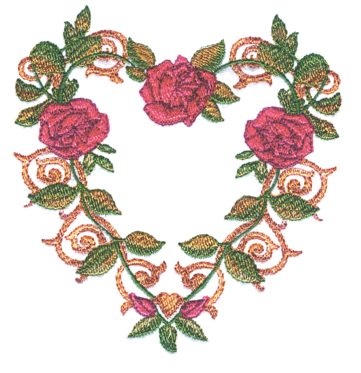 Rose Heart Balboa Threadworks